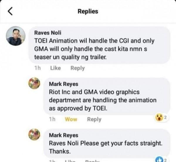 Mark Reyes responds to an assumption about Voltes V: Legacy